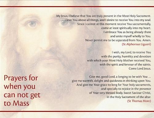 Live-streamed Mass and Spiritual Communion